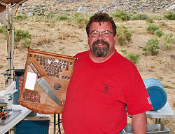 Timbo with Bean Feed Trophy.