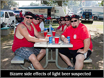 Bizarre effects of light beer studied at Clamp Okihi!