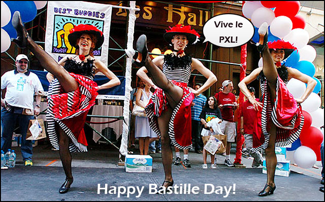 The French Girls kick it up for PXL.