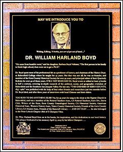 Wm. Harland Boyd Plaque
