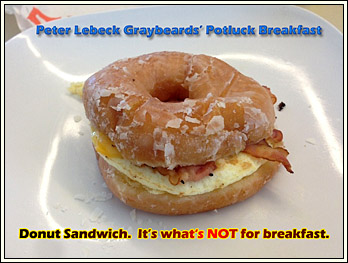 Donut Sandwich is NOT on the Menu.