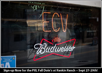 Neon ECV Sign at Sue's Tavern in Frazier Park.