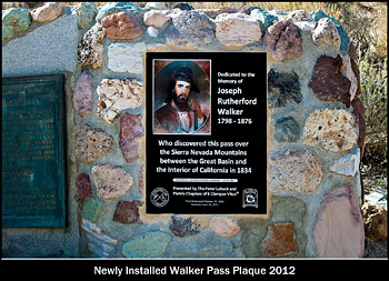 Walker Pass Plaque.