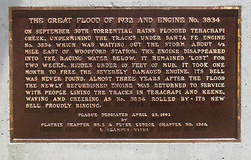 1993 Erection -- Flood of '32/Wreck of Engine 3834.