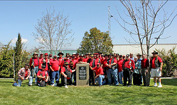 PXL with our monument in Railroad Park, Tehachapi, CA