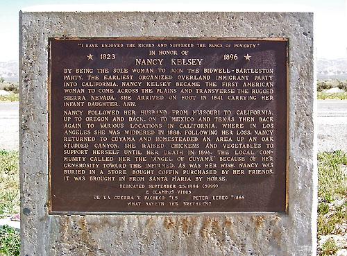 Nancy Kelsey Memorial.