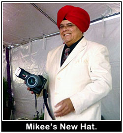 Mikee's new hat!'