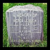 Peter Lebeck's Grave Marker.