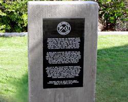 PXL's monument in Railroad Park, Tehachapi, CA