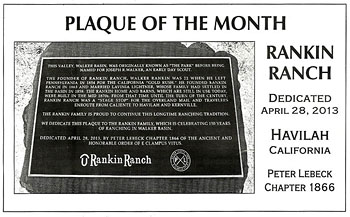 Our Rankin Plaque is Plaque of the Month!'