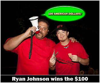 Ryan Johnson Wins the 100 Bucks (finally)!