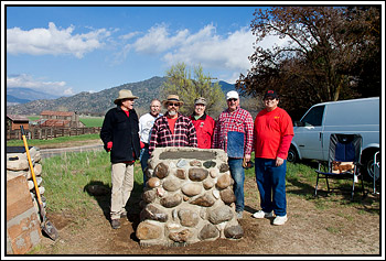 Work Party admires its handy work at Rankin Ranch.