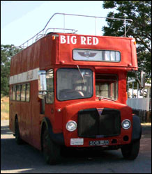 Big Red, front view.