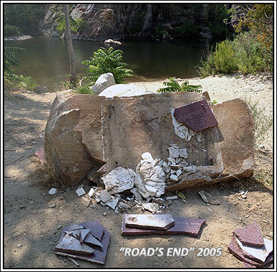 Destruction of the Road's End Plaque!