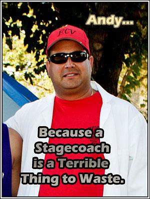Andy 'Stagecoach' Vialpando, Clampshostrix.