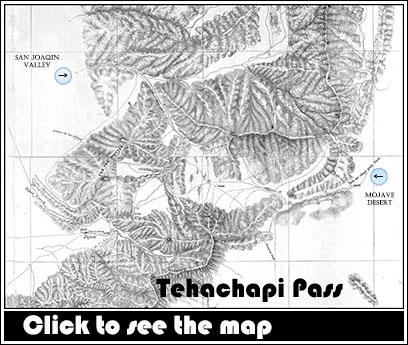 1850's Map of the Tehachapi Pass!