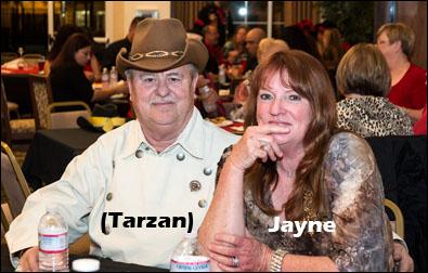Jayne and Tarzan.