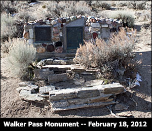 Walker Pass Monument in 2012.
