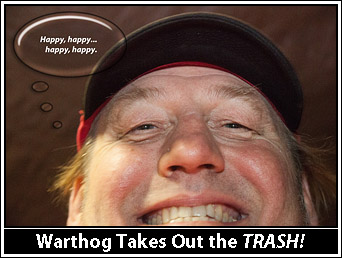 Dave 'Warthog' Otero is happy, happy, happy.