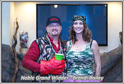 Noble Grand Widder, Brandi Bailey!