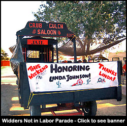 The Grug Gulch Wagon Celebrates Linda.