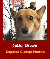Sutter Brown.  Deposed!
