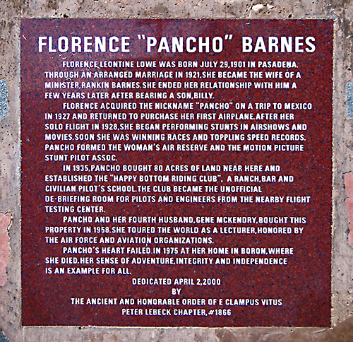 Spring 2000 Erection -- Pancho Barnes and the Happy Bottom Riding Club.