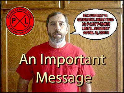 Ron Announces Postponement of Meeting!