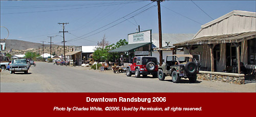 Downtown Randsburg 2006. Photo by: Charles White, © 2006.  Used by Permission, all rights reserved.