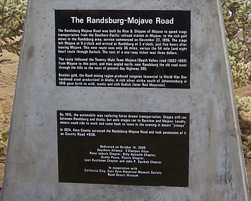 Fall '06 Erection -- Randsburg-Mojave Road.