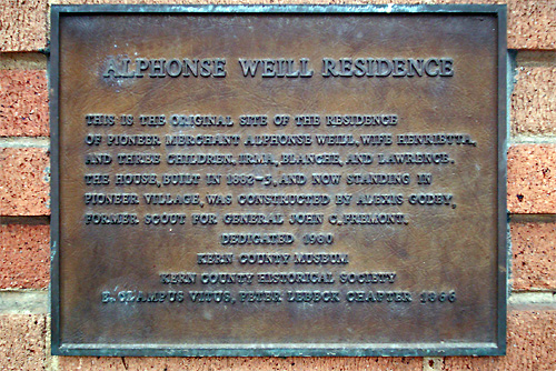 Plaque Commemorating the Weill Residence Near the Original Site.